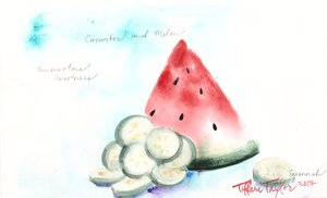 Cucumber Melon 11.5x7.5