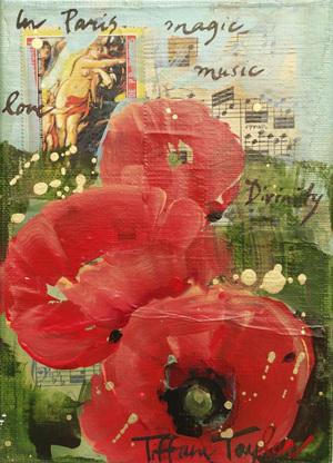 Poppies: Vintage Stamps, Paris, Magic...