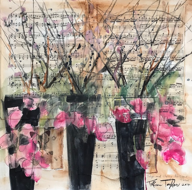 Tulips and Cherry Blossoms: Paris
