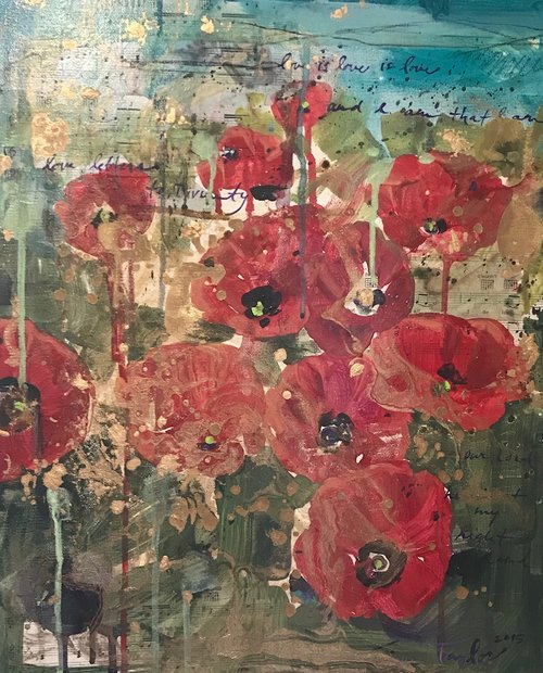Red Poppies: Gold, Love is Love is Love
