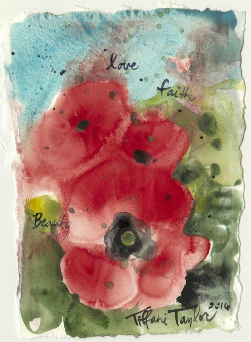 Trio of Poppies: Love, Faith, Beauty...