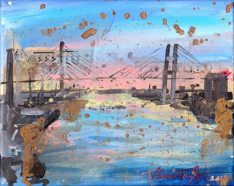 Talmadge Bridge: Sunset...