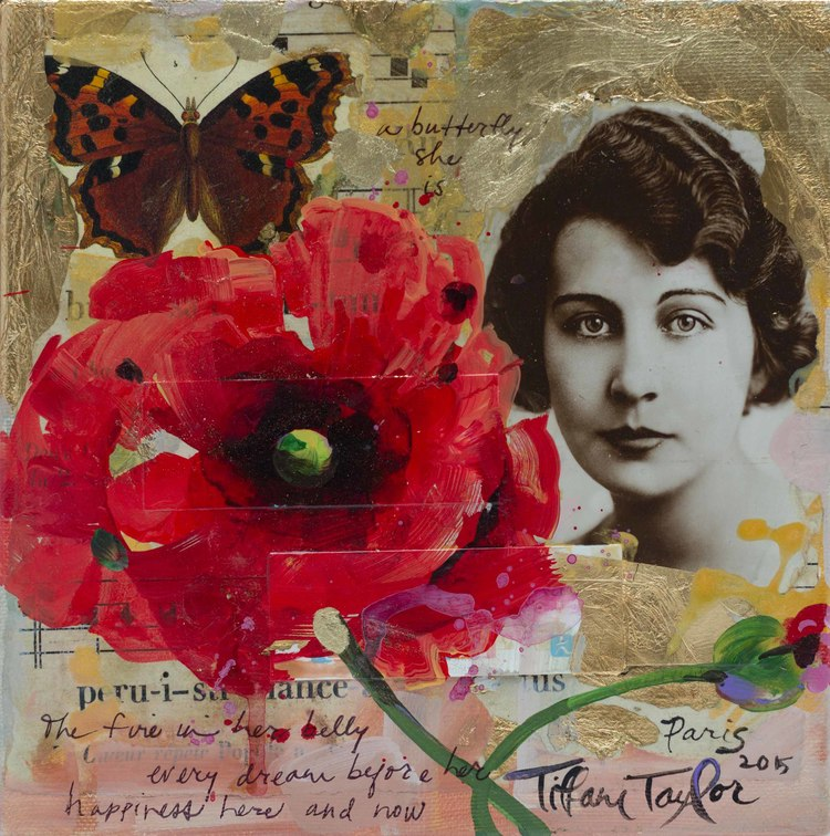 Red Poppy: A Butterfly She Is