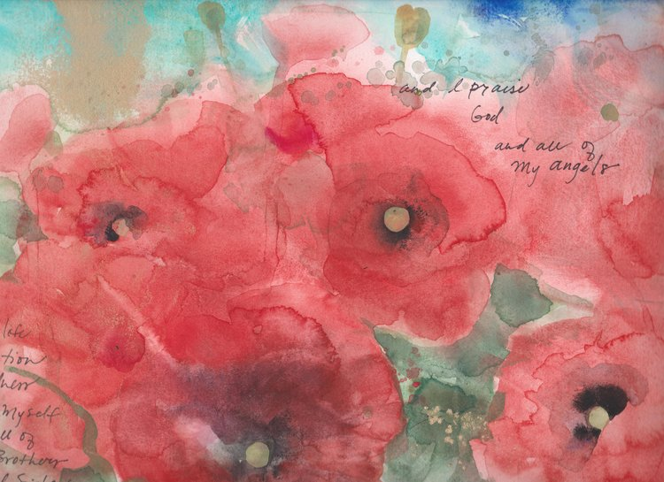 Red Poppies: Kindness and Angels