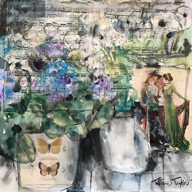 Expressionistic Hydrangeas: Paris