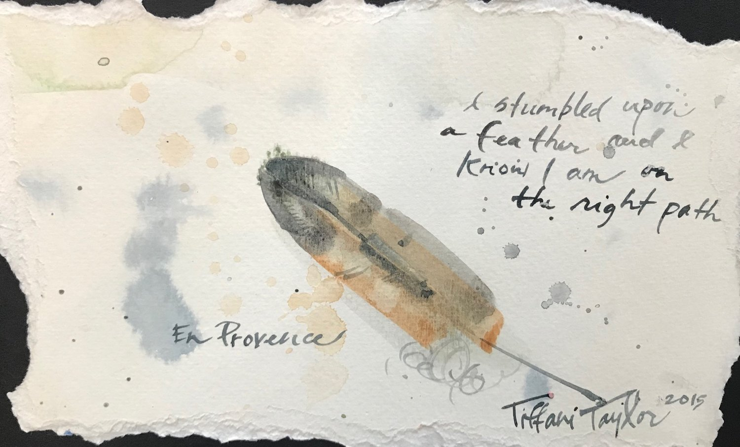 En Provence: Stumbled Upon a Feather