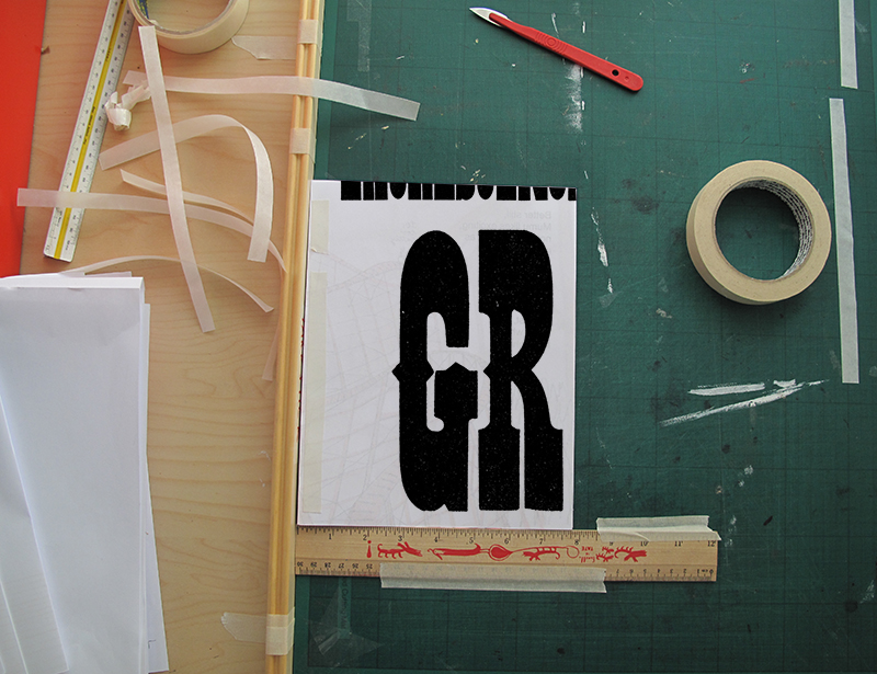 Making my letterpress dummy for Lincoln Green