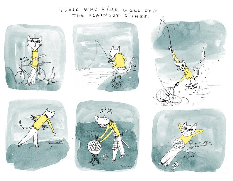 plainest dishes cat fishing