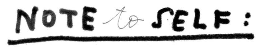 note to self banner