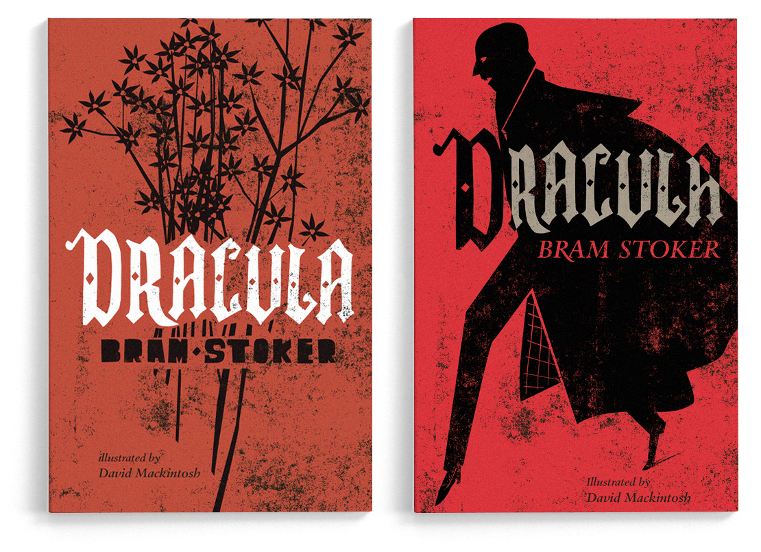 Book jacket designs for Alma Books' edition of  Dracula  by Bram Stoker (unpublished).