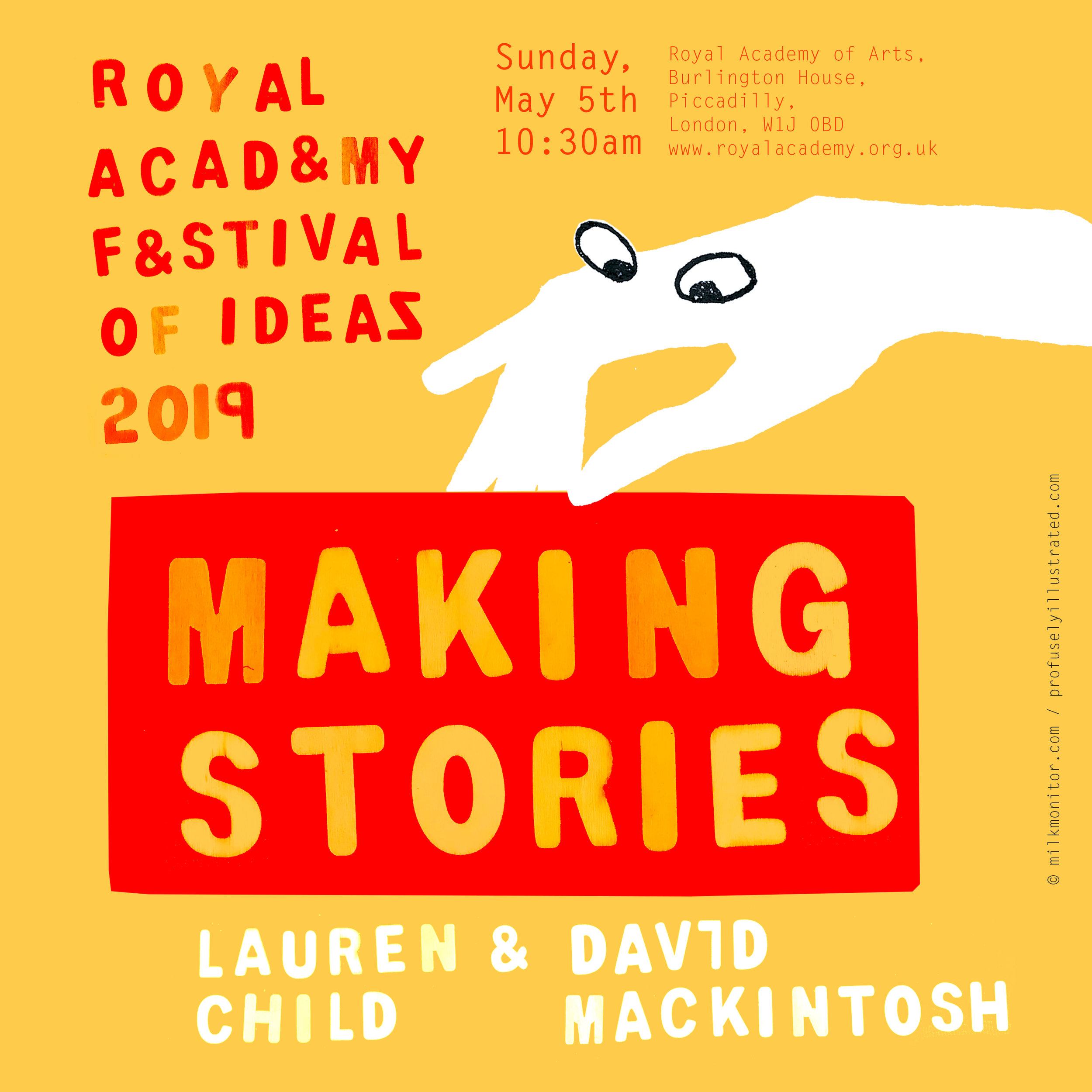 making stories RCA lauren child david mackintosh