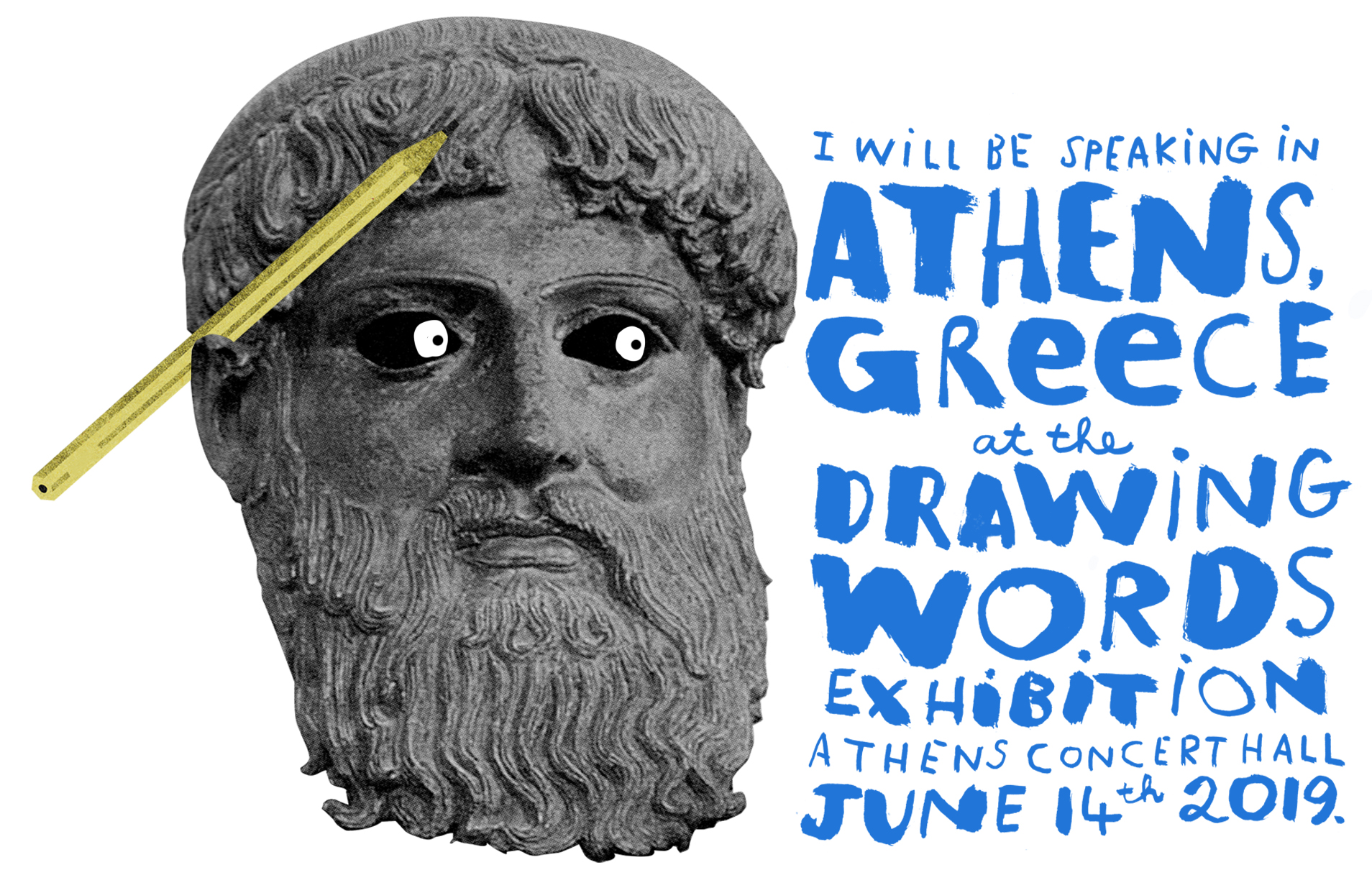 drawing words athens greece david mackintosh