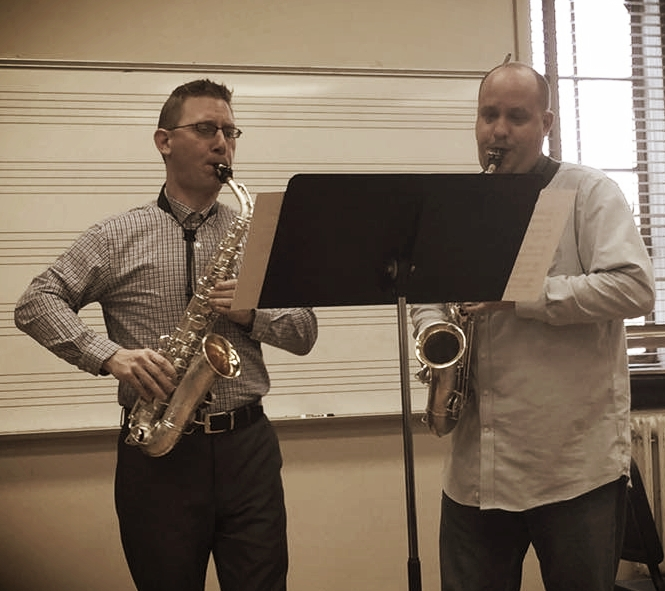 The composer and Dr. Marc Ballard rehearse  Variations on a Theme of Gretchaninov  for a March 2016 performance in New Orleans, Louisiana.