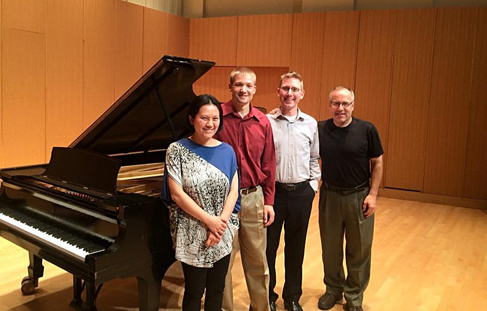 The composer with saxophonist Joseph Herbst and pianist I-Chen Yeh (coached by Joe Lulloff)after a Sept.2015 performance of the  Sonata .