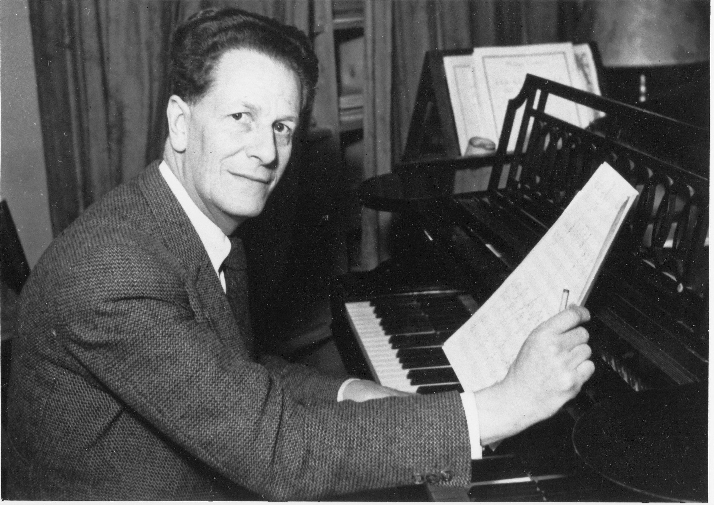 Composer Frank Martin (1890 - 1974)