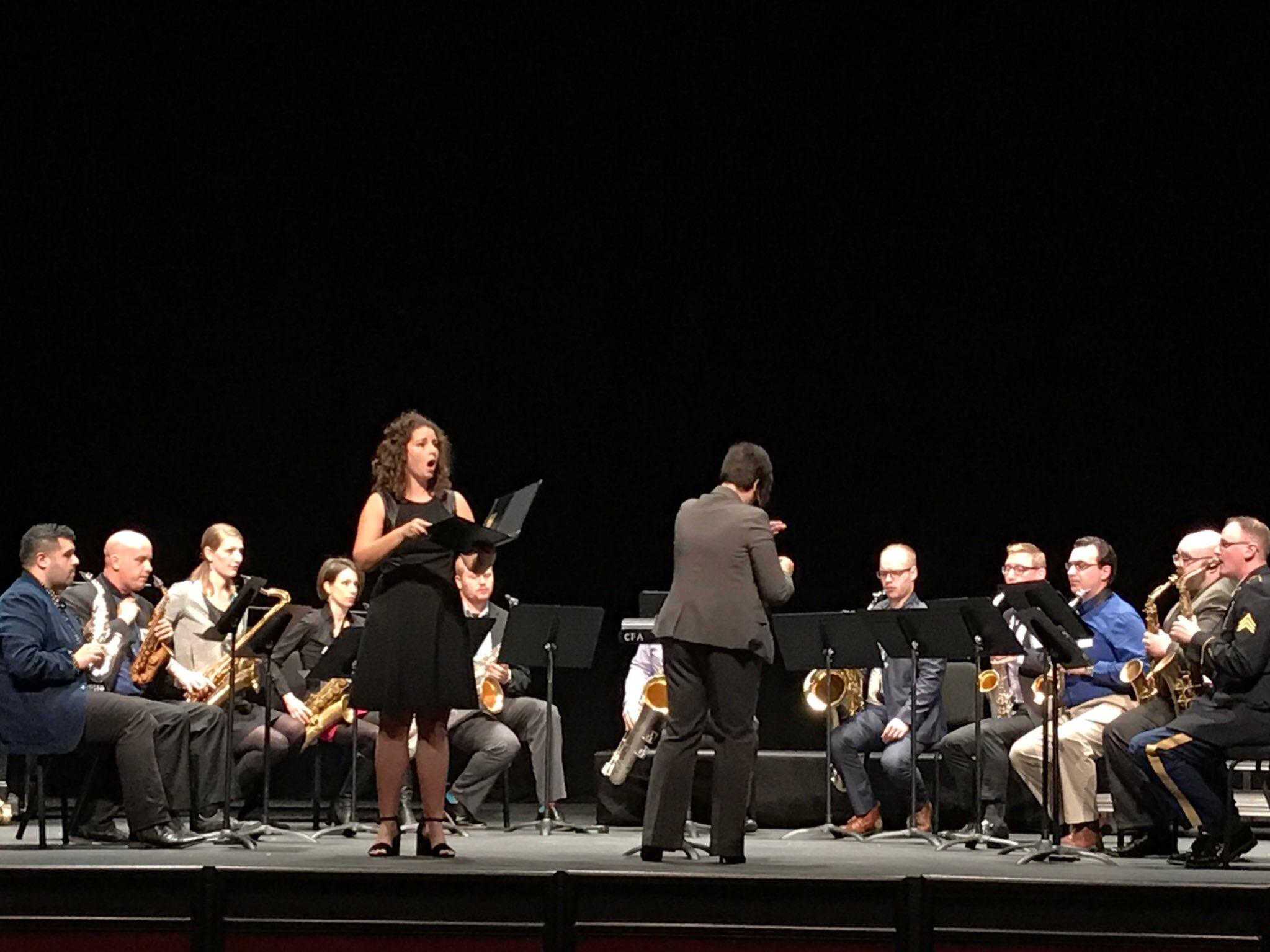 Courtney Ruckman, soprano, and RSO performing at Navy Saxophone Symposium