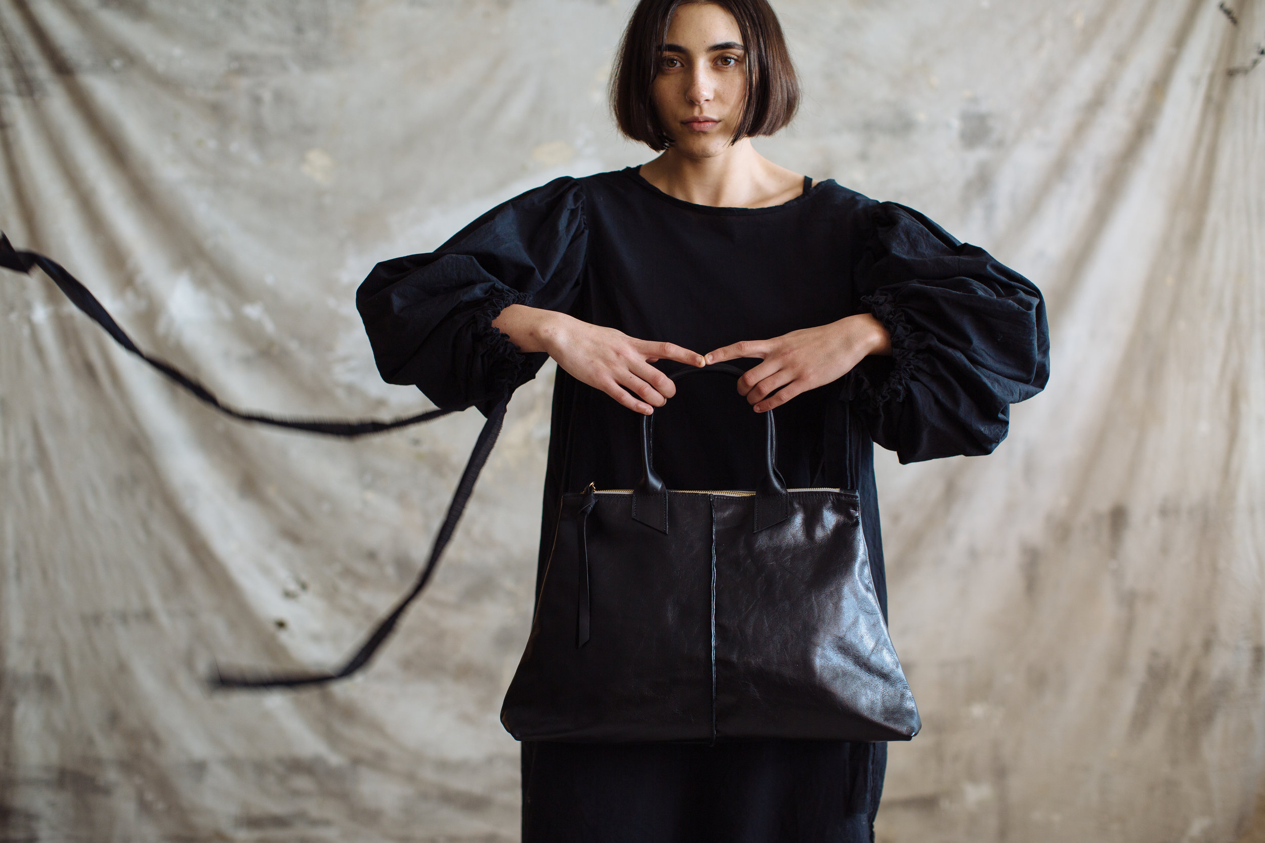 Pennyroyal Phoebe in black veg tan leather