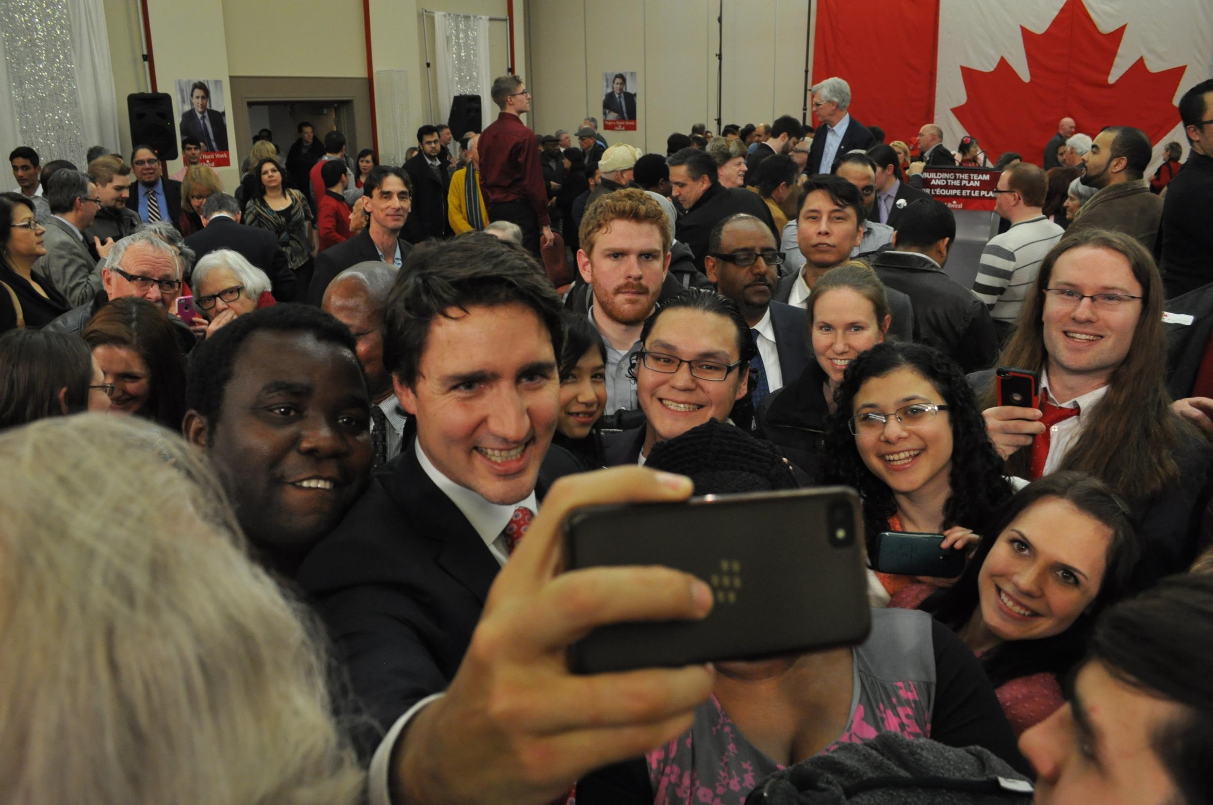 Justin Trudeau in Winnipeg via CommunityNewsCommons.
