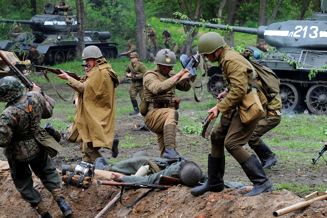 The historical reenactment of the Battle of Berlin (1945) at Modlin fortress, via  Wikipedia .