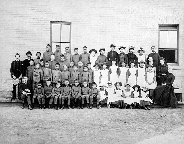 St. Paul's Indian Industrial School, Middlechurch, Manitoba, 1901