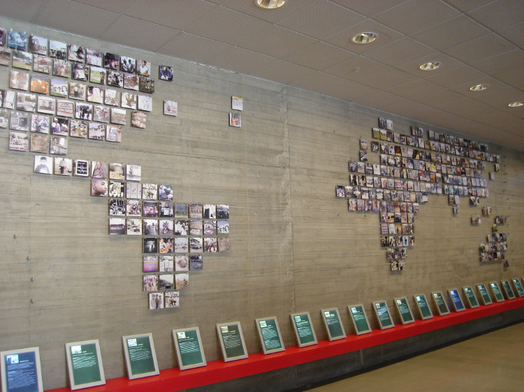 A world map showing all the truth and reconciliation commissions in  Museum of Memory and Human Rights ,  Santiago, Chile.