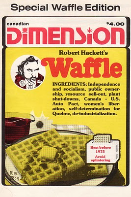 Cover of  Canadian Dimension  featuring the Waffle, via  Next Year Country .