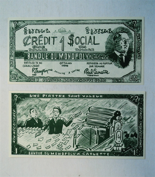"A ""Social Credit Dollar,"" mocking their economic plan."