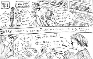 Diary Comic: Convini Food