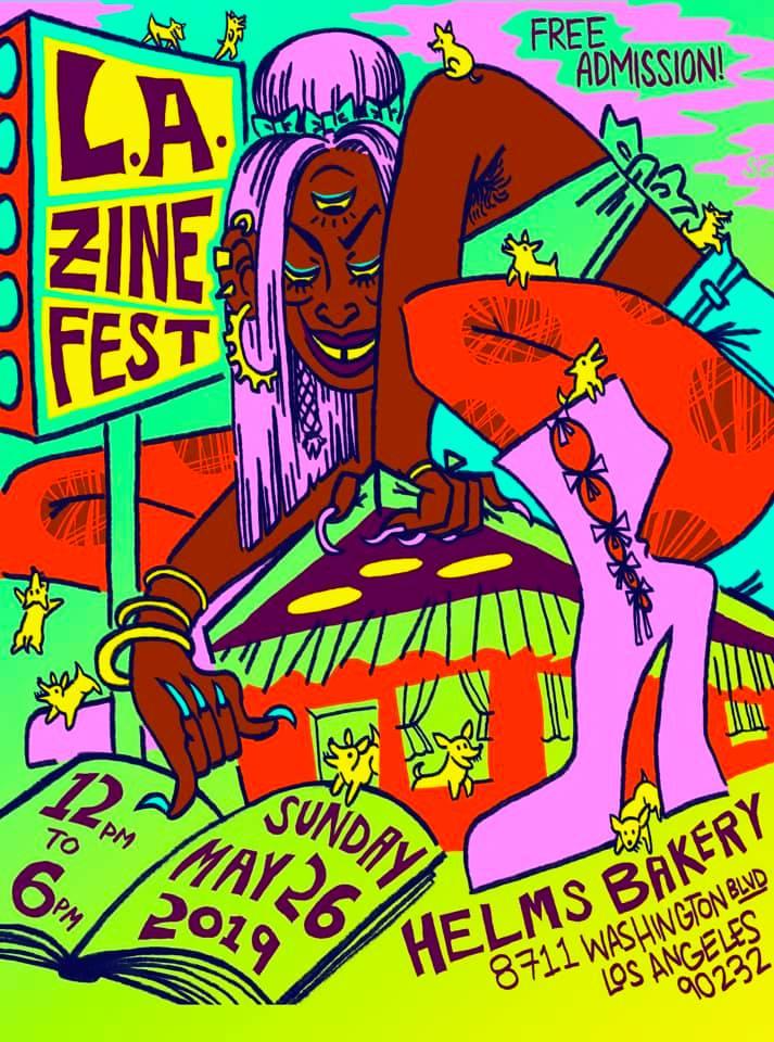 LA Zine Fest 2019 Poster by  Sophia Zarders !