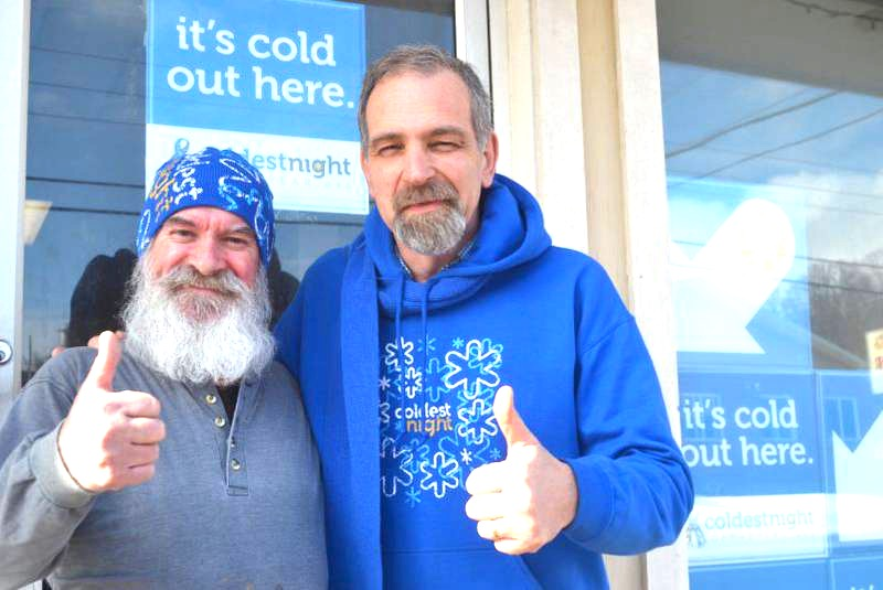 John Bennett at front of HHPEI re Coldest Night of the Year.jpg