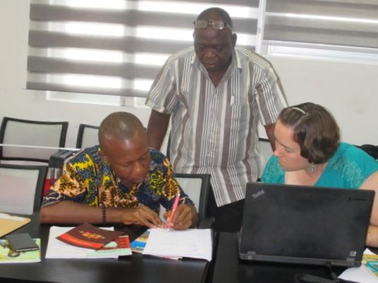 Hard at work in Tamale, Ghana