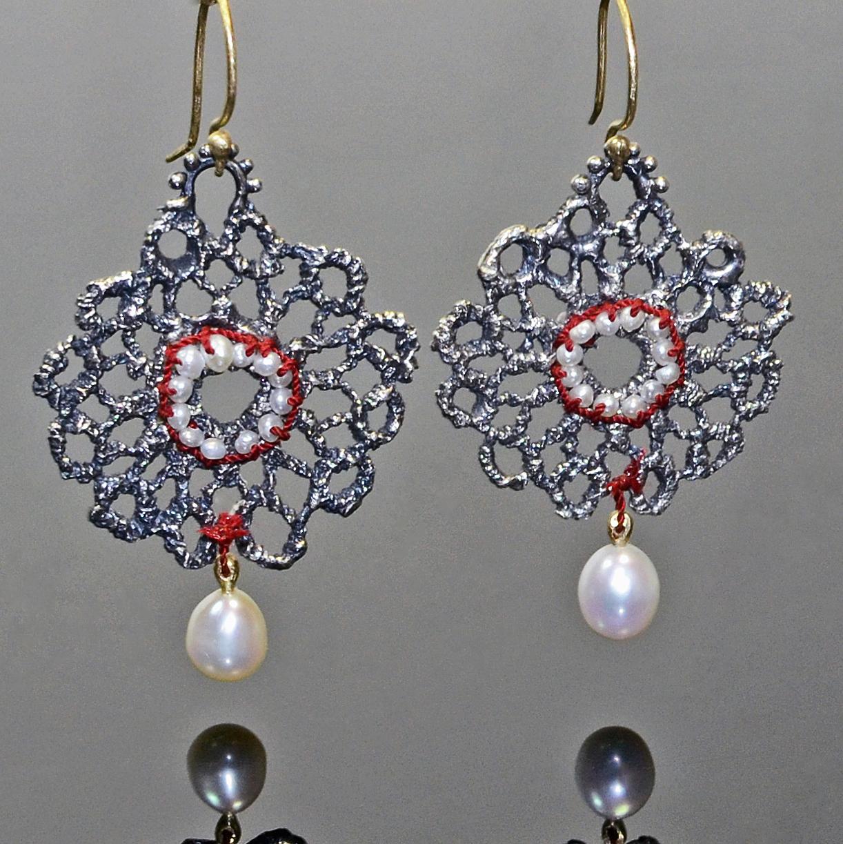 Silver Pearl Lace Earrings.jpg