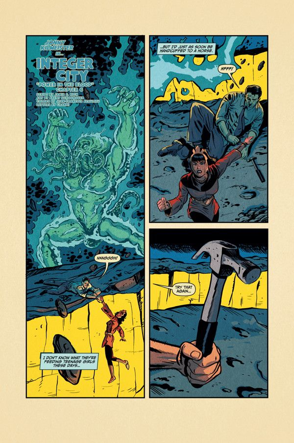 """Opening page from """"Integer City"""" chapter 6, the big finale, coming in Dark Horse Presents #35, April 16."""