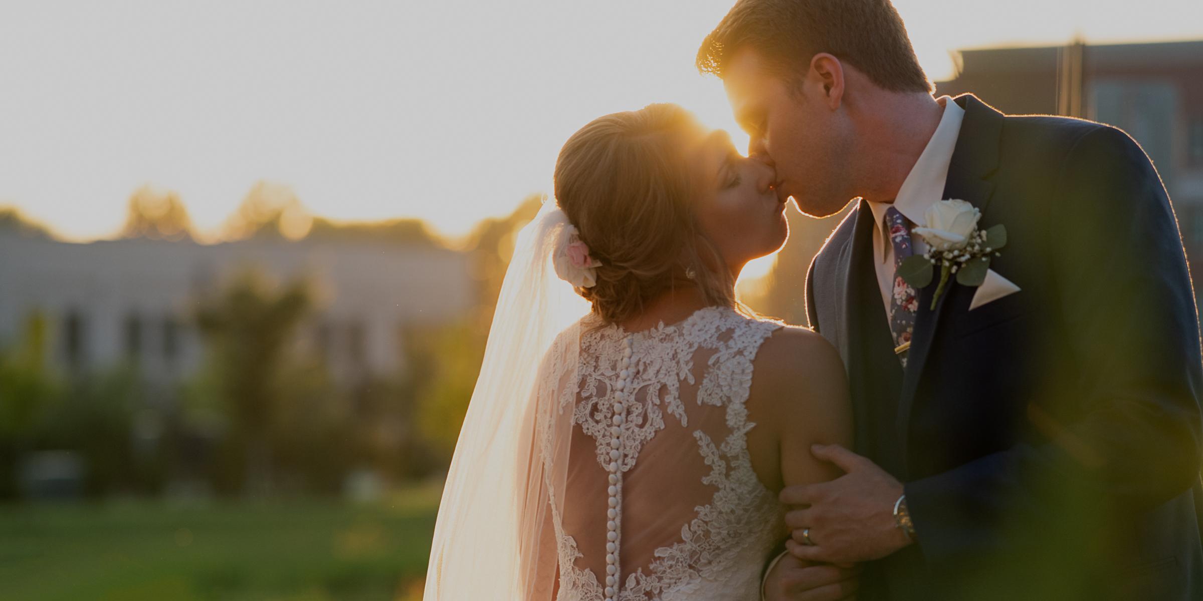 Golden Hour Bride and Groom Portrait By Brett Loves Elle, Columbus Wedding Photographer, Columbus Wedding Photography