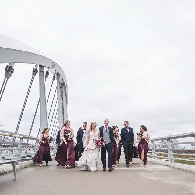 Bridal Party on a bridge for the win! // ⠀⠀⠀⠀⠀⠀⠀⠀⠀ • • • • • • • ⠀⠀⠀⠀⠀⠀⠀⠀⠀ #brettlovesellephotography #weddingparty #adventurouslovestories #belovedstories #loveandwildhearts #bridalparty #wildlove #wanderingphotographers #radstorytellers #firstandlasts #calledtobecreative #thatsdarling #midwestbride #myeverydaymagic #liveauthentic #realweddings #keepitwild #chasinglight #ohioweddingphotographer #flashesofdelight #peoplescreatives #columbusweddingphotographer #unconventionaltogs #loveandwildhearts #momentsovermountains #risingtidesociety #anotherwildstory #wildandcrazylove #wildhairandhappyhearts #withhumans