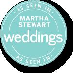 MARTHA STEWARD WEDDINGS BADGE