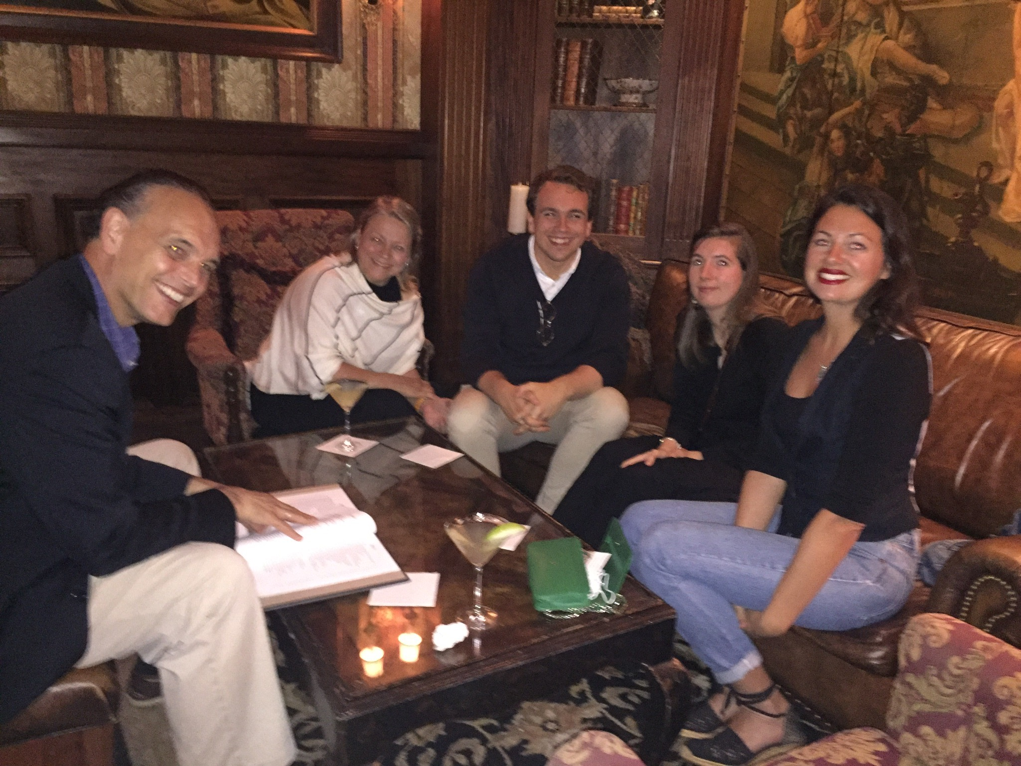 Mike & Pat Fernandez with their son, his girlfriend, and Sachi's best friend Iris Pelham having cocktails after The NewportFlower Shpow 2018