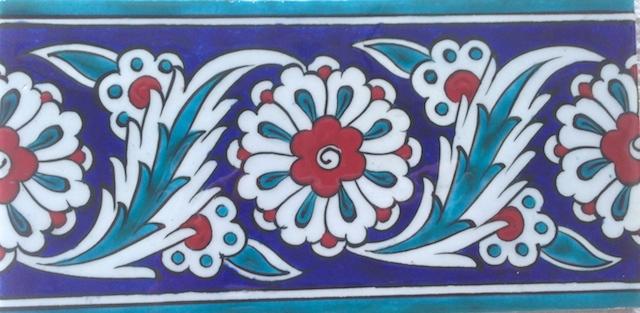 NAR border scroll / single tile / 20 x 10cm