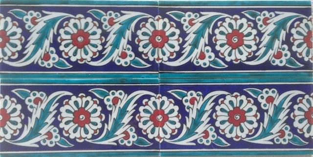 PAPATYA border scroll / two tiles x two tiles / 40 x 20cm