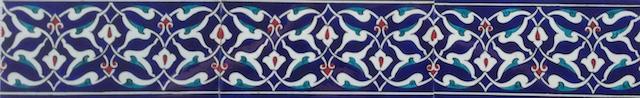 ARABESK border scroll / two tiles / 40 x 10cm