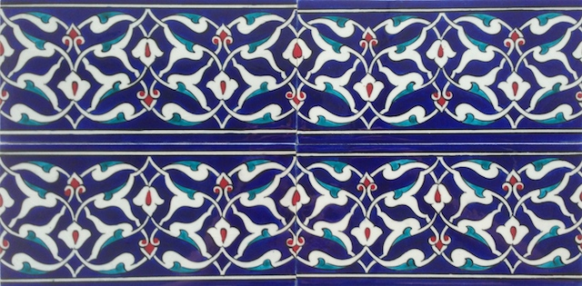 ARABESK border scroll / two tiles x two tiles / 40 x 20cm