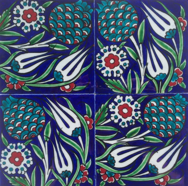 Zeynep / Blue / two-by-two tiles