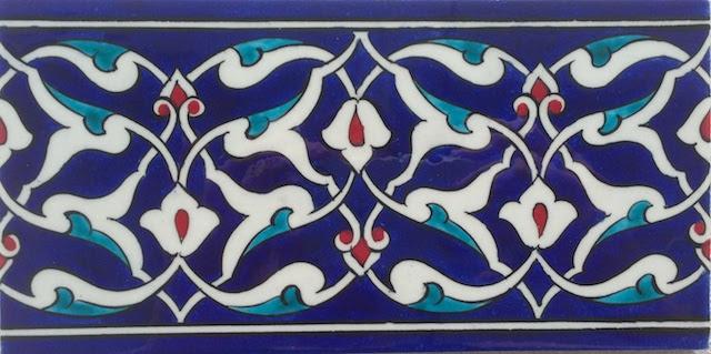 ARABESK  border scroll / 10 x 20cm