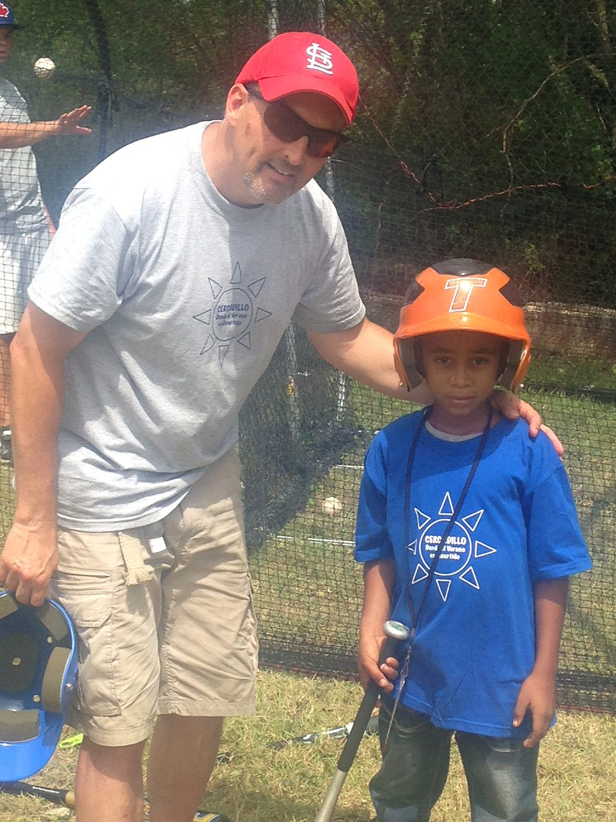Hitting in the cages was a new experience--even the youngest were eager to try!