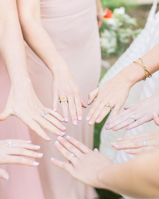 When all of your bridesmaids are also engaged, you just have to show off all that bling! ⠀ ⠀  Wedding Venue: @triunfocreek Photography: @stevetorresphoto Plannner: @aoeventplanning ⠀ ⠀ . . . . . #triunfocreekwedding #triunfocreekvineyards #bridetobe2019 #bridetobe2020 #bridesmaides #engaged #southerncaliforniaweddingphotographer #southerncaliforniawedding #californiawedding #springwedding #springweddings #agourahillsweddingphotographer #losangelesweddingphotographer #coeurdaleneweddingphotographer #bridesmaidideas #theknot #weddingwire #trendybride #shesaidyes💍 ⠀ ⠀ ⠀