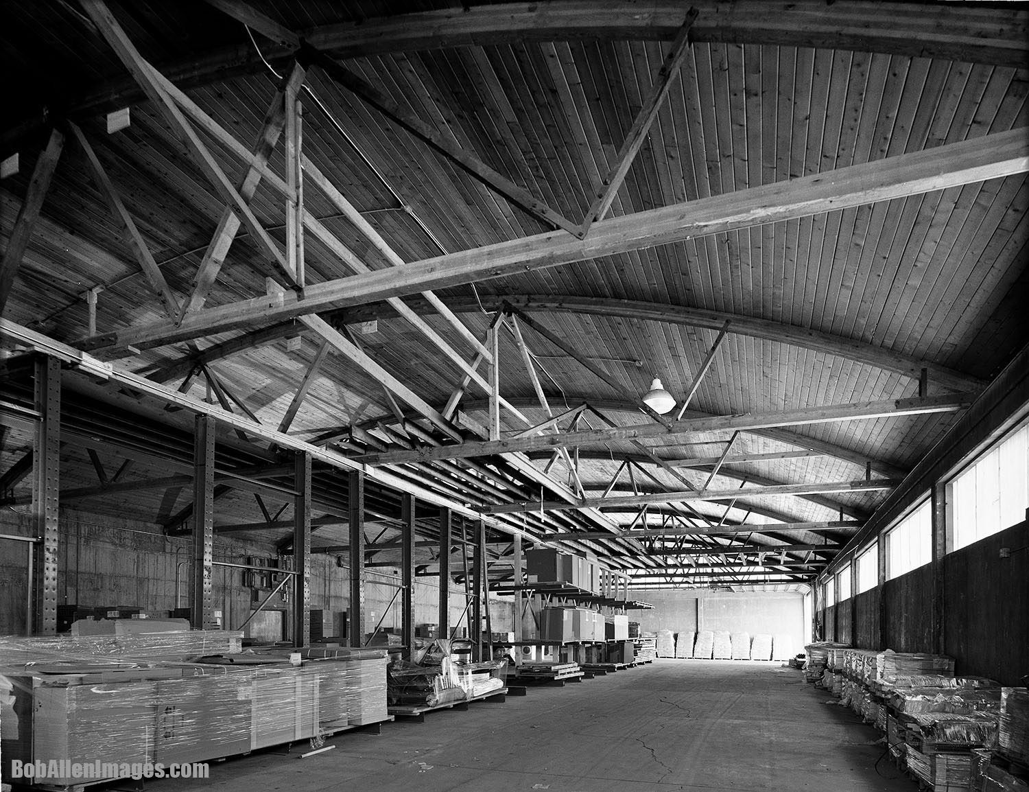 """Prior to the demo permit being issued by the city of Bozeman, the Kenyon Noble Lumber building was photographed in accordance with the Historic American Buildings Survey requirements to use a 4""""x5"""" view camera with film. How old school...?"""