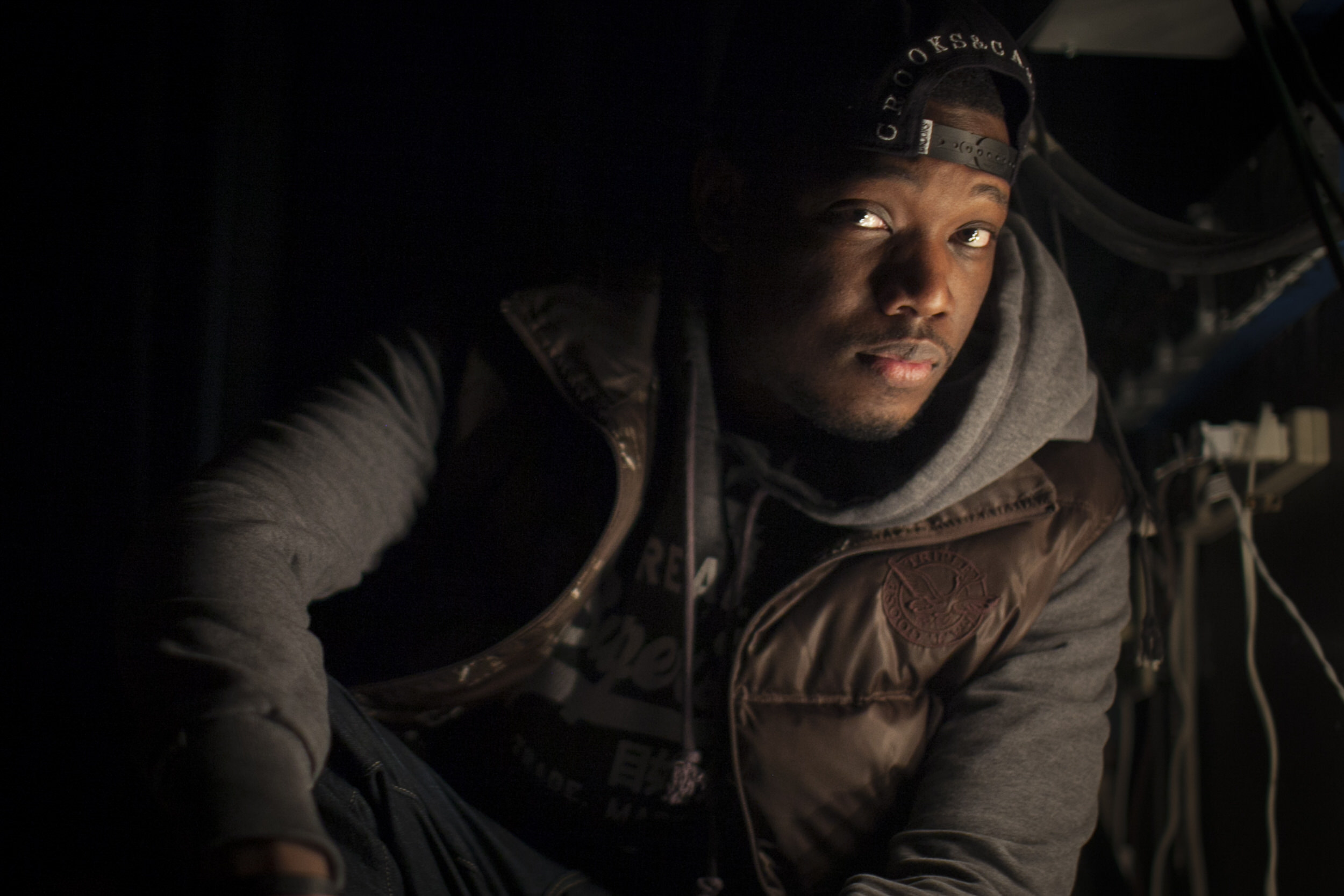 SNL Weekend Update Co-Anchor Michael Che backstage in Brooklyn.