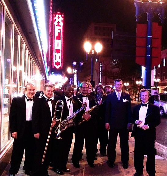 The cast of Sinatra at 100: Some of the members of The STL Big Band & Sinatra stylist Joe Scalzitti.