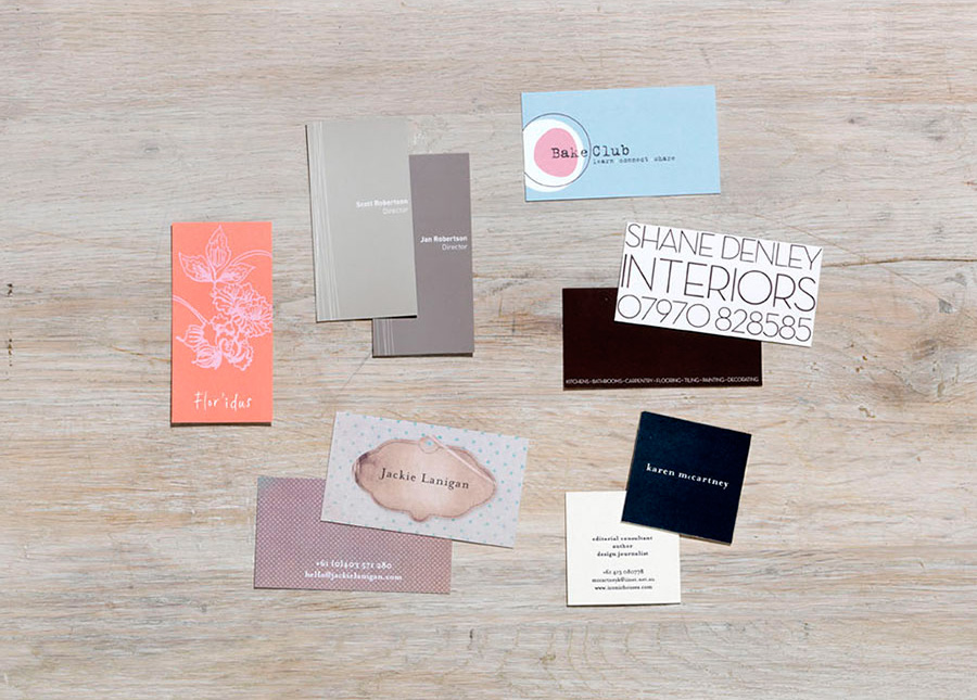 A selection of cards and identities