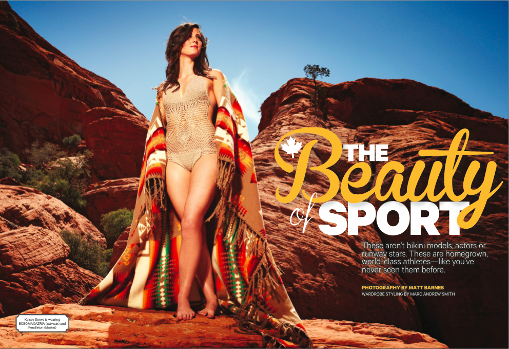 Opening page of the 2013  Sportsnet - The Beauty of Sport issue
